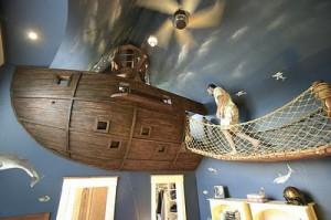 chambre insolite enfant bateau