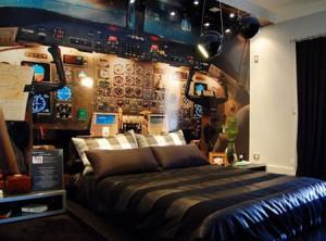 chambre insolite cockpit