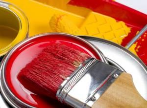 peinture naturelle et pinceau