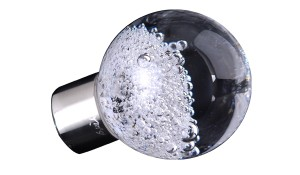 Bouton de meuble contenant des bulles