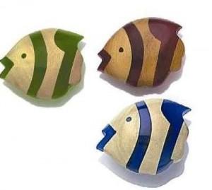 Boutons en forme de poissons