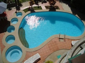 piscine pied