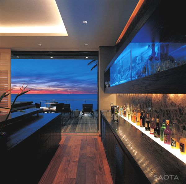 coucher de soleil maison mer
