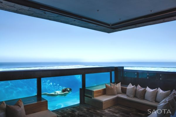 Les maisons de rêve au bord de la mer