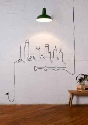 buildings créés avec des câbles