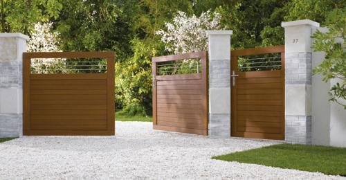 entretien et nettoyage de votre portail en bois les cl s de la maison. Black Bedroom Furniture Sets. Home Design Ideas