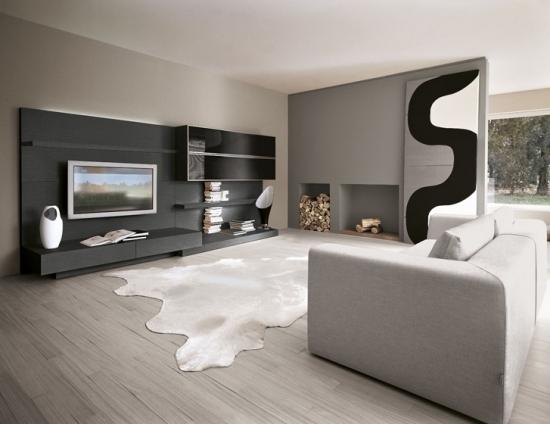 salon ambiance gris les cl s de la maison. Black Bedroom Furniture Sets. Home Design Ideas