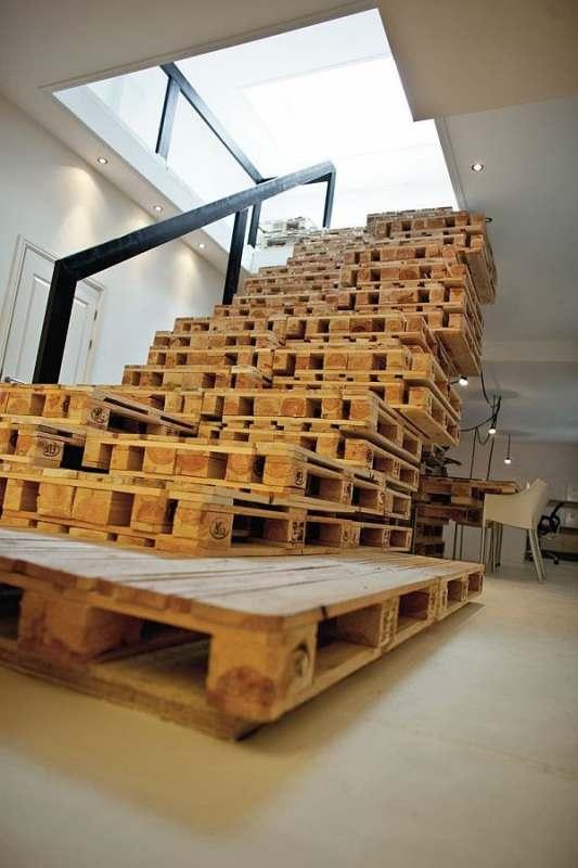 escalier palette