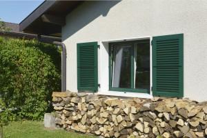 fenetres et volets vert fonc les cl s de la maison. Black Bedroom Furniture Sets. Home Design Ideas
