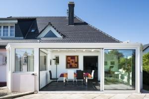 extension de maison avec soubassement assorti