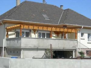 Terrasse muret beton