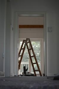 echelle pendant une rénovation
