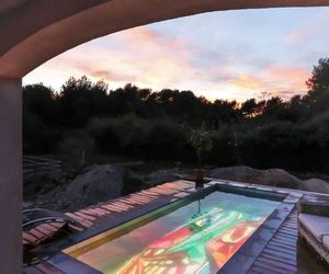 piscine fond écran vidéo