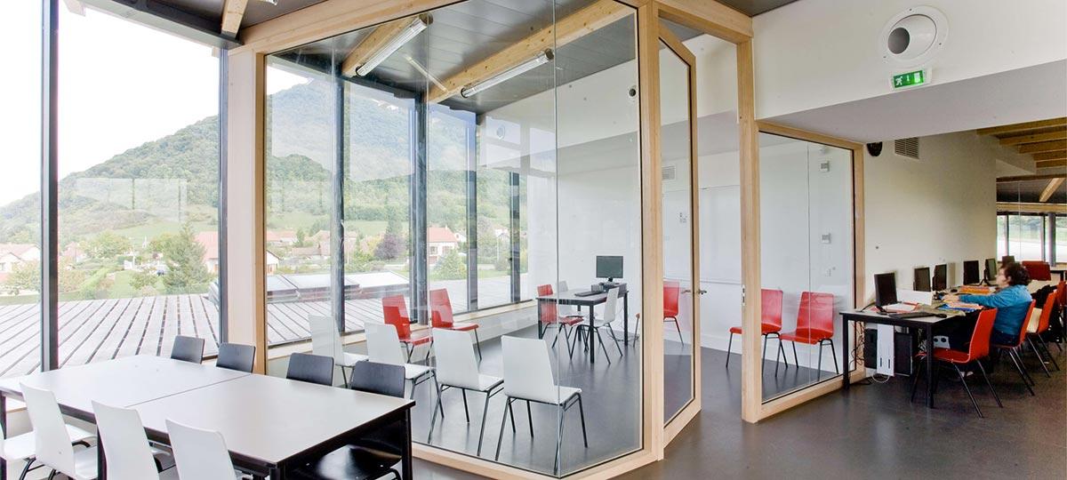 bureau baies vitrées