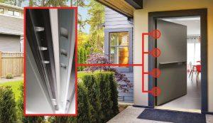 porte d'entrée en aluminium PASSAGE 830® By EURADIF