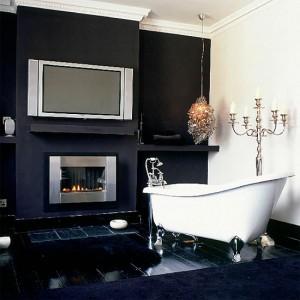 baignoire design cheminee
