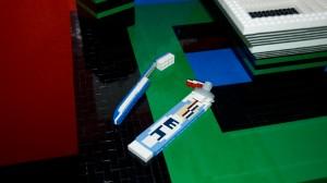 dentifrice et brosse à dents lego