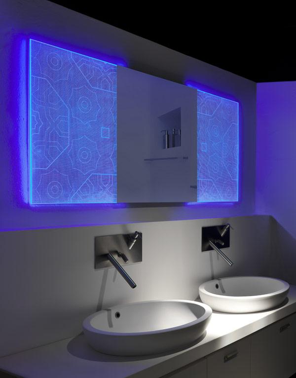 Un miroir holographique pour une salle de bain lumineuse for Le bain et le miroir