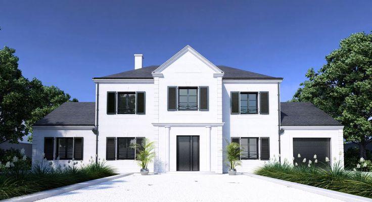 Les fen tres de couleur noir les cl s de la maison for Couleur facade de maison contemporaine