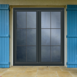 fenêtre anthracite en bois
