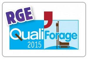 logo RGE pour la géothermie qualification forage