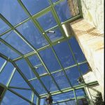 toit ouvert véranda vert